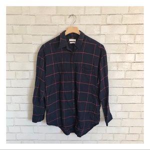 Aritzia Community Plaid Button Down Shirt